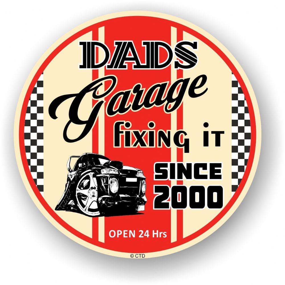 Dad S Garage Roundel Design Year Dated 2000 Vinyl Car